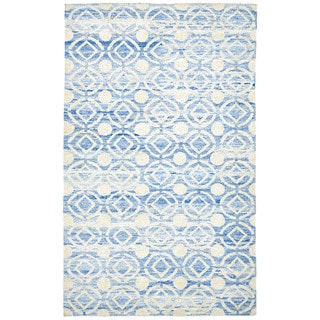 Grand Bazaar Ainsley Ocean Hand-knotted Rug (9'6 x 13'6)