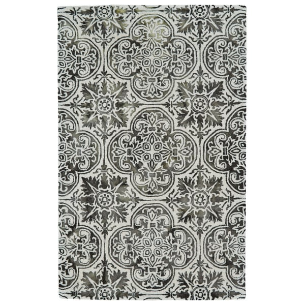 "Grand Bazaar Boedeker Black Area Rug (9'6"" x 13'6"") - 9'6"" x 13'6"""