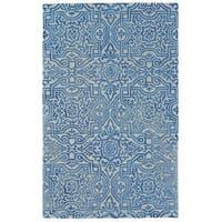 "Grand Bazaar Boedeker Midnight Blue Area Rug (9'6"" x 13'6"") - 9'6"" x 13'6"""