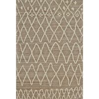 "Grand Bazaar Hasani Natural / Slate Area Rug - 9'6"" x 13'6"""