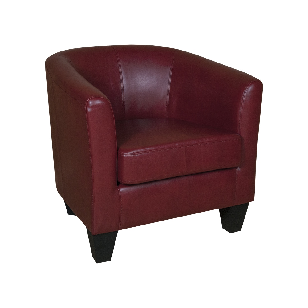 Shop Grafton Home Ellen Red Bonded Leather Tub Chair - Free Shipping ...
