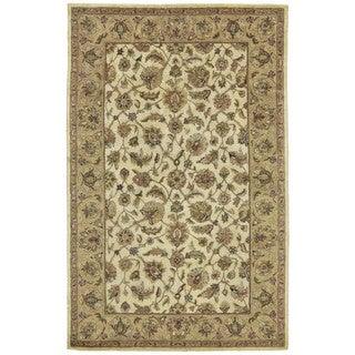Grand Bazaar Beige/Brown Wool Tufted Corbel Rug (9'6 x 13'6)