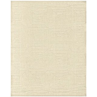 Grand Bazaar Ivory Wool Handknotted Calistoga Rug (9'6 x 13'6)
