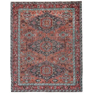 """Grand Bazaar Bashyr Rust / Aqua Area Rug (8'6"""" x 11'6"""") - 8'6 x 11'6"""
