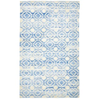 Grand Bazaar Ainsley Ocean Hand-knotted Rug (8'6 x 11'6)