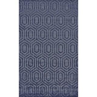 Grand Bazaar Savona Blue Viscose Hand-woven Rug (8'6 x 11'6)