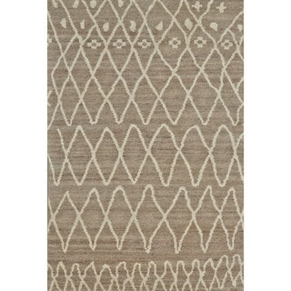 "Grand Bazaar Hasani Natural / Slate Area Rug - 8'6"" x 11'6"""