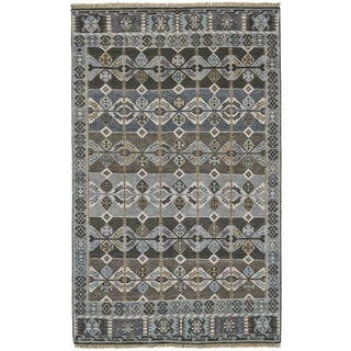 Grand Bazaar Kartum Steel Wool Hand-knotted Rug (8'6 x 11'6)