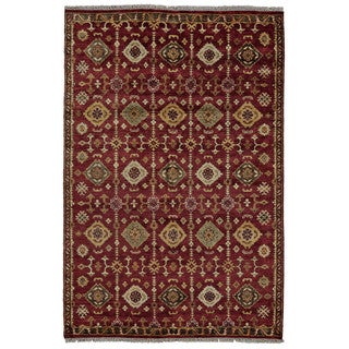 Grand Bazaar Kartum Red Hand-knotted Rug (8'6x11'6)