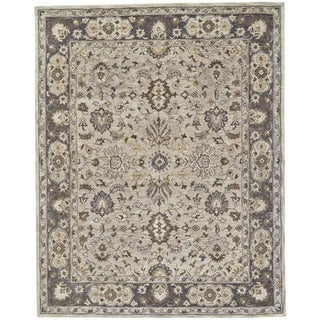 "Grand Bazaar Botticino Gray 9'6"" x 13'6"" Traditional Wool Area Rug - 9'6"" x 13'6"""