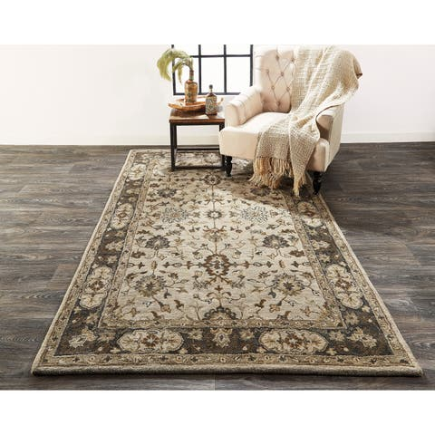 "Grand Bazaar Botticino Gray Area Rug - 9'6"" x 13'6"""