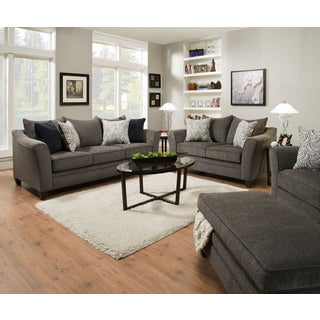 Simmons Upholstery Albany Pewter Queen Sleeper Sofa