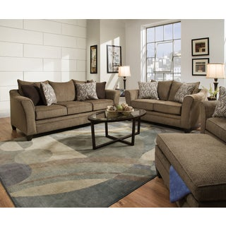 Simmons Upholstery Albany Truffle Queen Sleeper Sofa