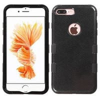 Insten Black Carbon Fiber Tuff Hard PC/ Silicone Dual Layer Hybrid Rubberized Matte Case Cover For Apple iPhone 7 Plus