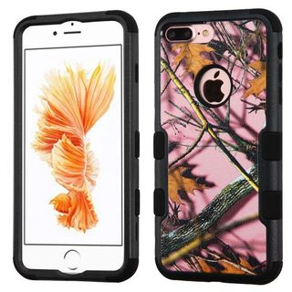 Insten Pink/ Black Oak-Hunting Tuff Hard PC/ Silicone Dual Layer Hybrid Rubberized Matte Case Cover For Apple iPhone 7 Plus