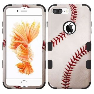 Insten White/ Orange Baseball Tuff Hard PC/ Silicone Dual Layer Hybrid Rubberized Matte Case Cover For Apple iPhone 7 Plus