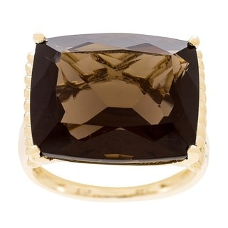 14K Yellow Gold Smoky Quartz Ring by Anika and August