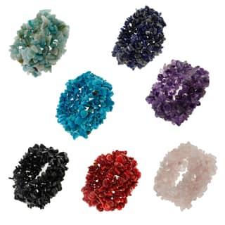 Multicolor Gemstone Stretch Chip Bracelet Gemstone Beads Fashion Jewelry for Women|https://ak1.ostkcdn.com/images/products/14419387/P20986959.jpg?impolicy=medium