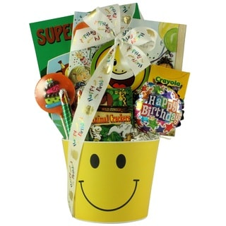 Happy Birthday Smiles Kid's Birthday Ages 3 to 5 Gift Basket