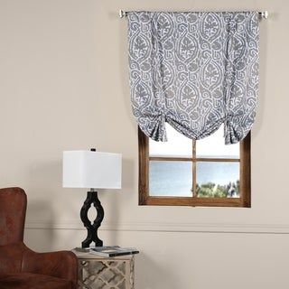 Exclusive Fabrics Abstract Blackout Tie-up Window Shade