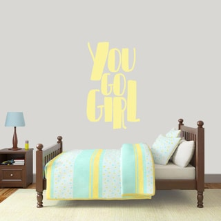 You Go Girl 22 x 36 Wall Decal
