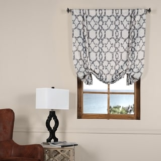 Exclusive Fabrics Imperial Fossil Beige Blackout Tie-up Window Shade