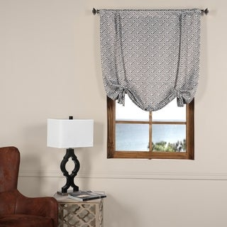 Exclusive Fabrics Cobblestone Taupe Blackout Tie-Up Window Shade - 42 x 63