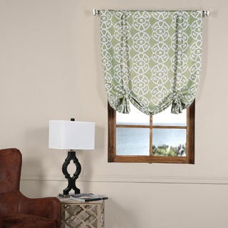 Exclusive Fabrics Secret Garden Leaf Green 42-inch W x 63-inch LBlackout Tie-up Window Shade - 42 x 63