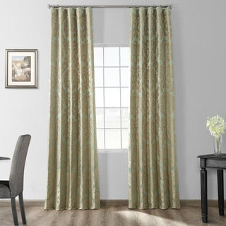 Exclusive Fabrics Astoria Faux Silk Jacquard Curtain Panel