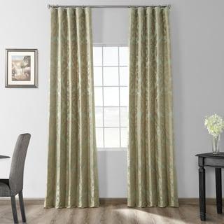 Exclusive Fabrics Astoria Faux Silk Jacquard Curtain Panel