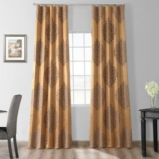 Exclusive Fabrics Ellaria Faux Silk Jacquard Curtain Panel