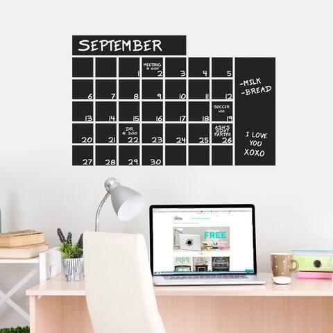 Chalkboard Calendar Wide 30 x 20 Wall Decal