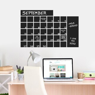Chalkboard Calendar Wide 30 x 20 Wall Decal