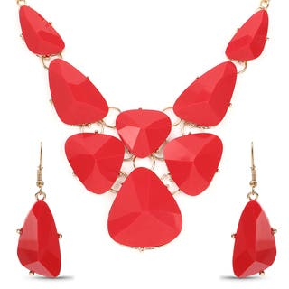 Liliana Bella Gold Plated Red Bib Necklace and Earring Set|https://ak1.ostkcdn.com/images/products/14419727/P20987225.jpg?impolicy=medium
