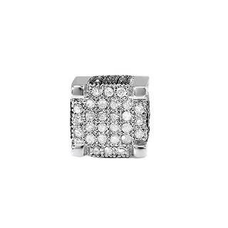 Elora Sterling Silver 1/2ct TDW Black and White Diamond Men's Hip Hop Stud Earrings (I-J, I2-I3)