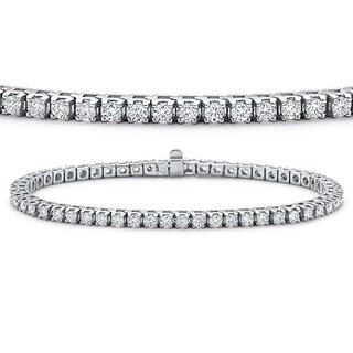 Elora 14k White Gold 8ct TDW Round-cut White Diamond Tennis Bracelet (H-I, I1-I2)