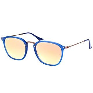 Ray-Ban RB 2448N 62547O Transparent Blue Plastic Square Sunglasses Copper Flash Mirror Gradient Lens