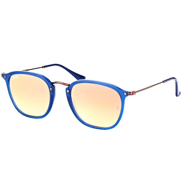 31ecdcb18b Ray-Ban RB 2448N 62547O Transparent Blue Plastic Square Sunglasses Copper  Flash Mirror Gradient Lens
