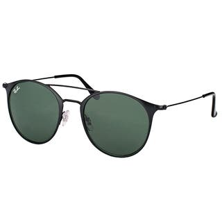 01fcae4907 Ray-Ban RB 3546 186 Black Top Matte Black Metal Round Sunglasses with Green  Lens