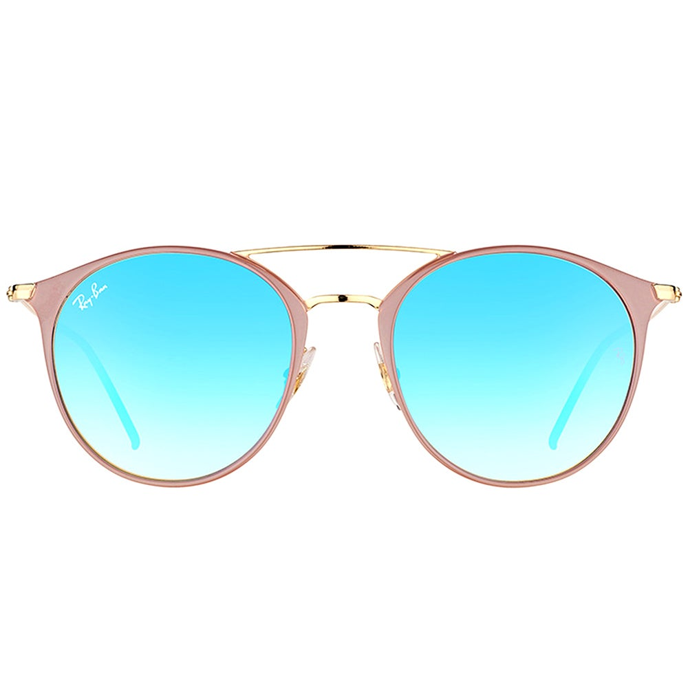 252fd8d00e9 Shop Ray-Ban RB 3546 90118B Gold Top Beige Metal Round Sunglasses with Blue  Flash Mirror Gradient Lens - On Sale - Free Shipping Today - Overstock - ...