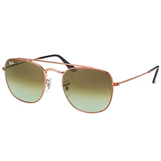 Ray-Ban RB 3557 9002A6 Medium Bronze Metal Square Sunglasses with Green Gradient Lens