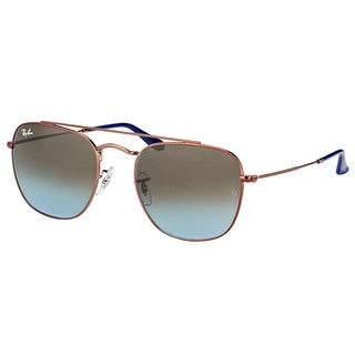 Ray-Ban RB 3557 900396 Dark Bronze Metal Square Sunglasses with Blue Gradient Lens