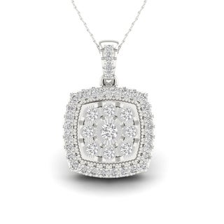 Sterling Silver 1/6ct TDW Diamond Composite Necklace (H-I, I2)