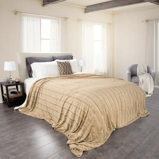 Windsor Home Fleece and Sherpa Blanket
