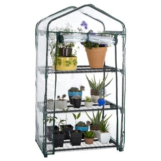 Pure Garden 3 Tier Mini Greenhouse with Cover 27.5 x 19 x 50 inches