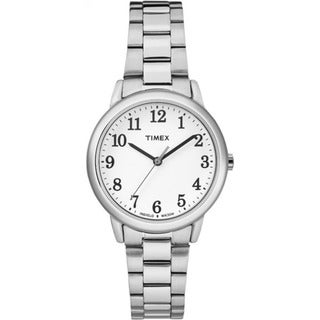 Timex Easy Reader White and Stainless Steel Bracelet Watch
