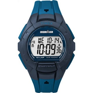 Timex Men's Ironman Essential 10 Blue/Black Resin Strap Watch