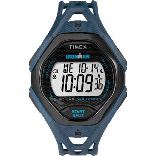 Timex Men's TW5M10600 Ironman Sleek 30 Blue/Black Resin Strap Watch