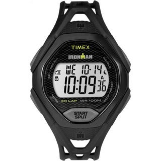 Timex Men's TW5M10400 Ironman Sleek 30 Black Resin Strap Watch