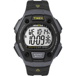 Timex Men's TW5M09500 Ironman Classic 30 Black and Grey Resin Strap Watch